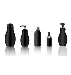 mock up realistic black spray dropper pump vector image