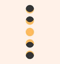 Modern moon minimal art background moon vector