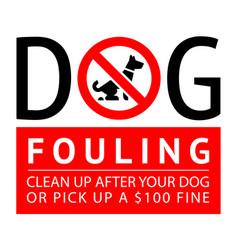 No dog fouling sign modern sticker for park vector