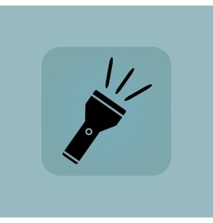 Pale blue flashlight icon vector