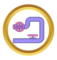 Pipe with valves icon vector