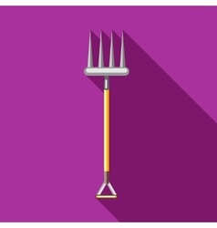 Pitchfork icon in flat style vector