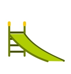 Playground green slide icon vector image