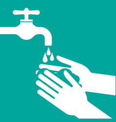 please wash your hands vector image