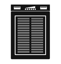 power solar bank icon simple style vector image
