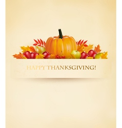 Retro Happy Thanksgiving Background vector image vector image