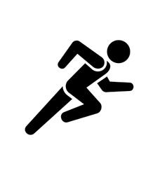 Running Man Icon on White Background vector image