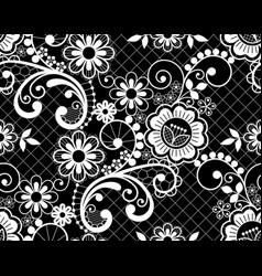 Seamless lace retro pattern - detailed repe vector
