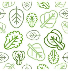 seamless outline vegetable pattern for wallpaper vector image