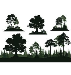 Set landscapes vector