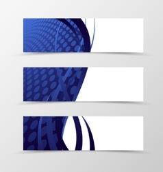 Set of banner wave design vector image