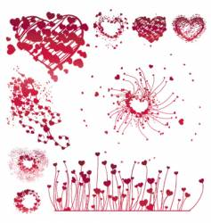 Set of Valentine's design elements vector image
