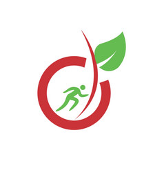 simple healthy and organic food for sport man vector image