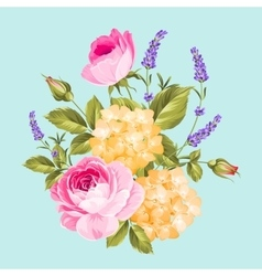 Single rose bouquet vector
