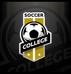 Soccer college logo on a dark background vector
