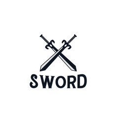 swords logo design inspiration vector image