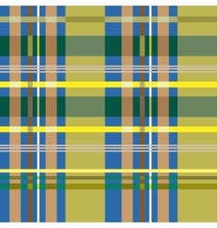 Tartan blue and yellow seamless pattern vector image