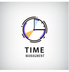 time management logo vector image