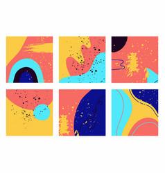 Trendy backgrounds patterns doodle shapes vector