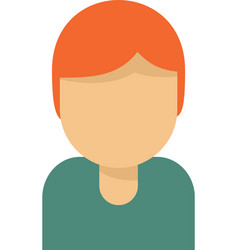 Tutor avatar icon flat isolated vector