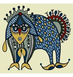 Ukrainian traditional tribal art in karakoko style vector