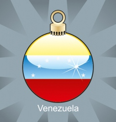 Venezuela flag on bulb vector image