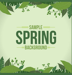 Water color spring background with light and dark vector