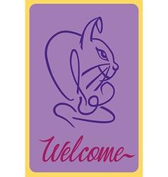 Welcome rabbit vector image