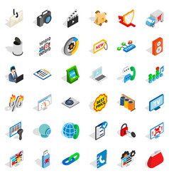 Www design icons set isometric style vector