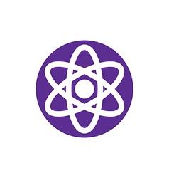Atom symbol abstract icon symbol vector image vector image