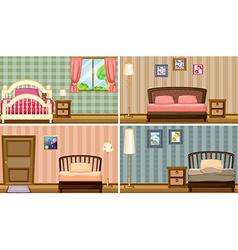 bedrooms vector image vector image