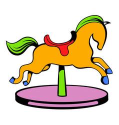 carousel horse icon icon cartoon vector image