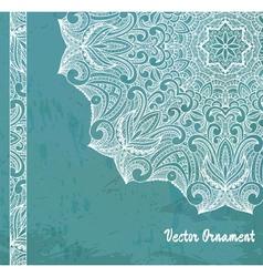 ethnic vintage ornament background vector image