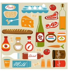 Food composition vector image vector image