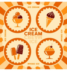Label design with ice cream icons vector image vector image