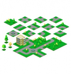 roadway isometric vector image vector image