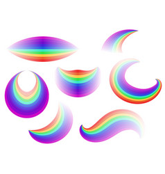 set of different forms of the rainbow vector image vector image