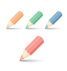 set pencils vector image