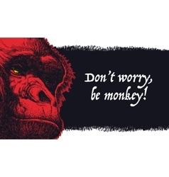 Urban gorilla poster vector image