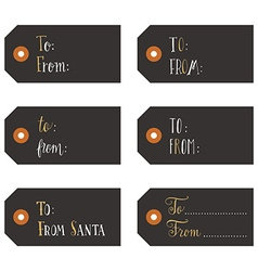 Vintage Christmas gift tags vector image vector image