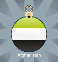 Afghanistan flag on bulb vector image vector image