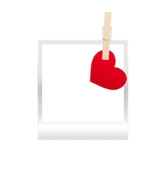 Frame and heart vector