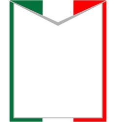 italian abstract flag frame vector image vector image
