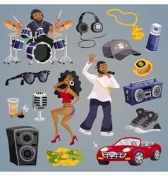 Rap music elements vector