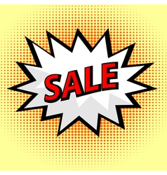 Sale label in pop art style vector image vector image