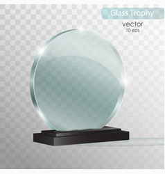 Glass plate glass trophy award vector