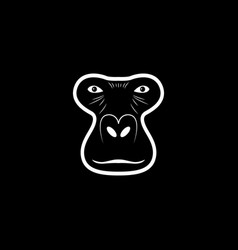 gorilla head logo animal mascot logotype vector image