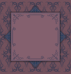 ornament for invitations greeting card menu vector image