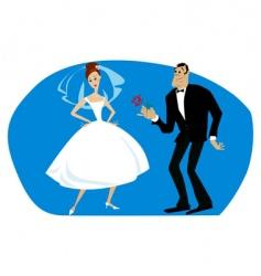 pride bride vector image