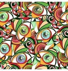 Vivid eyes seamless pattern vector image